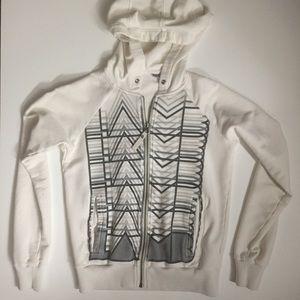 L.A.M.B. zip up hoodie, hand pockets, made w/ love